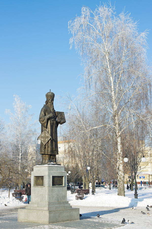 Monument to Alexander martyr in the town square, December 12, 2016 in Kharkov, Ukraine stock photo