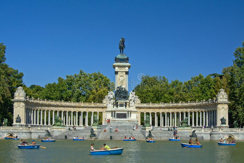 Monument to Alfonso XII, Madrid royalty free stock image