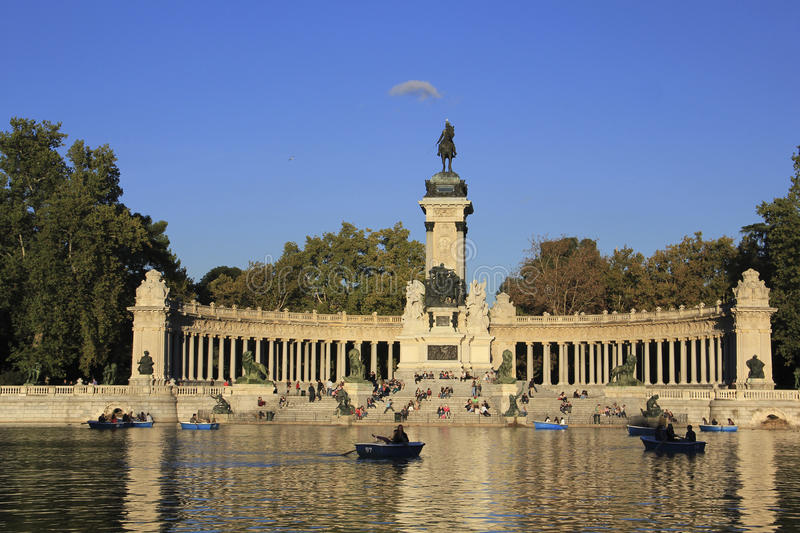 Monument to Alfonso XII, Madrid, Spain stock photos
