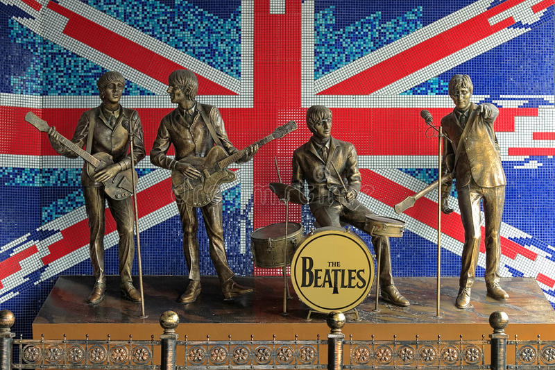 Monument To The Beatles In Donetsk Editorial Image