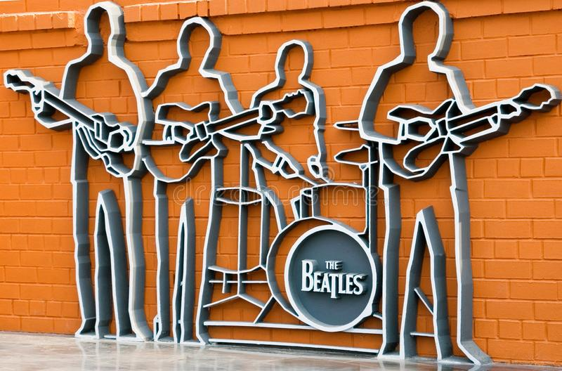 The monument to the Beatles, Ykaterinburg, Russia. stock photography