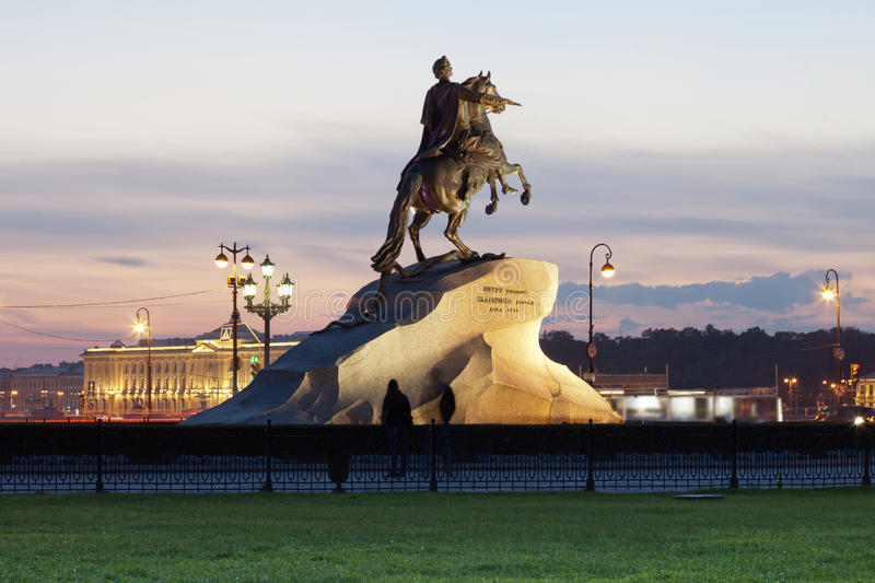 Download Monument To The Bronze Horseman In The Evening, St. Petersburg Stock Image - Image: 38382937