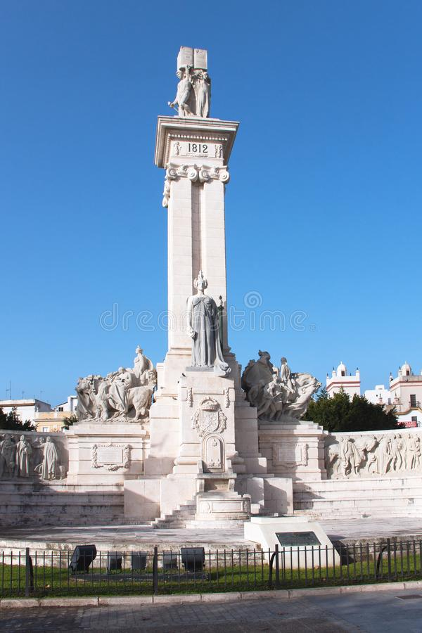 Monument to the Cádiz Constitution stock photo