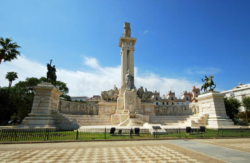 Monument to the Cadiz Constitution. royalty free stock photos