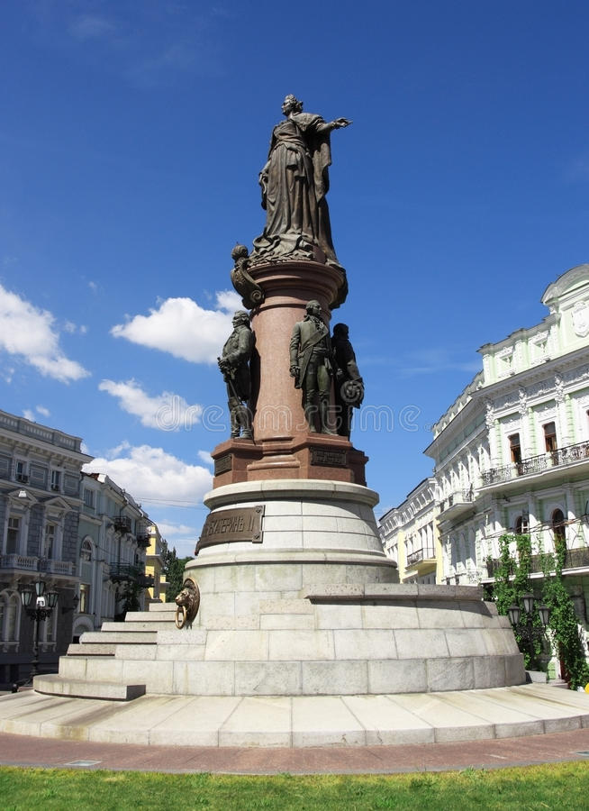 Monument to catherine II stock photography