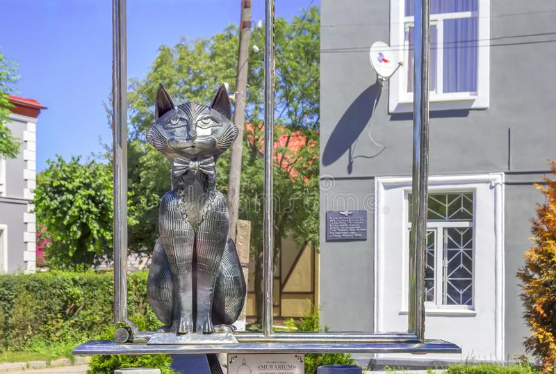 Monument to Cats in Zelenogradsk. Kaliningrad region. Russia. stock photo