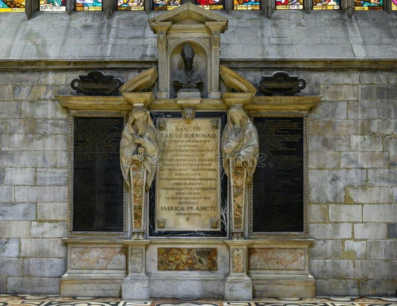 Monument to Charles Borromeo in the Milan Cathedral, Italy. Picture is a monument to Charles Borromeo in the Milan Cathedral in Milan, Italy.  He was Roman royalty free stock photo