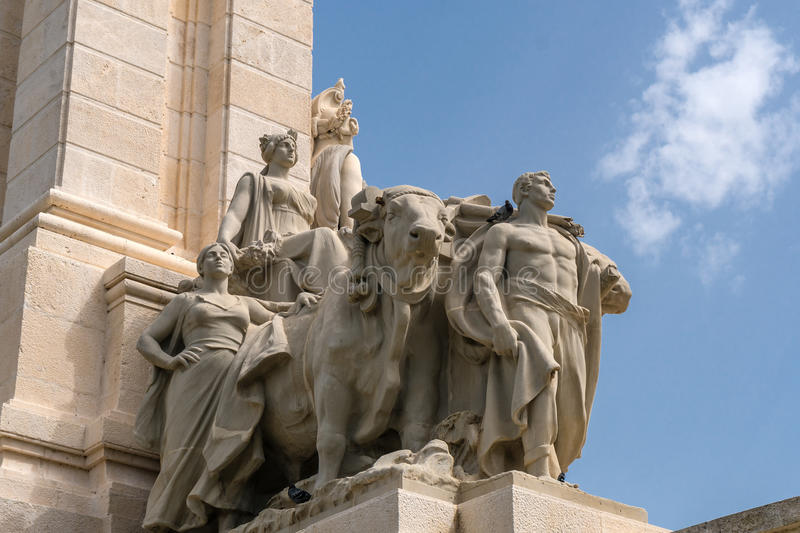 Monument to the Constitution of 1812 in Cadiz stock photo