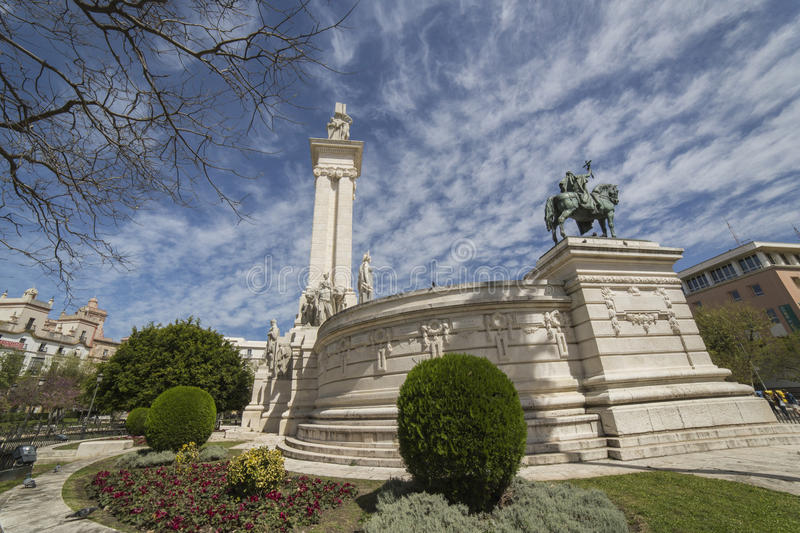 Monument to the Constitution of 1812, panoramic view, Cadiz, And stock photography