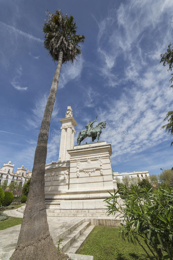 Monument to the Constitution of 1812, panoramic view, Cadiz, And royalty free stock photo
