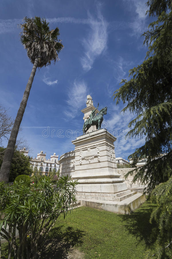 Monument to the Constitution of 1812, panoramic view, Cadiz, And royalty free stock photography