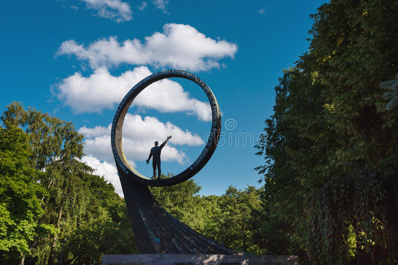 Monument to the Cosmonauts, Kaliningrad. Kaliningrad, Russia - July 06 2017: The Monument to the Cosmonauts in summer time royalty free stock image