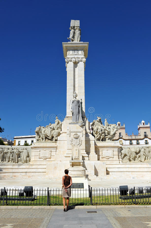 Monument to the Courts of Cadiz, 1812 Constitution, Andalusia, Spain royalty free stock images