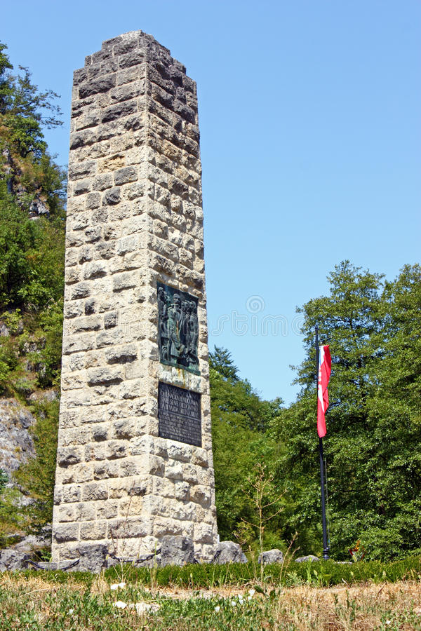 Monument to Croatian national anthem stock image