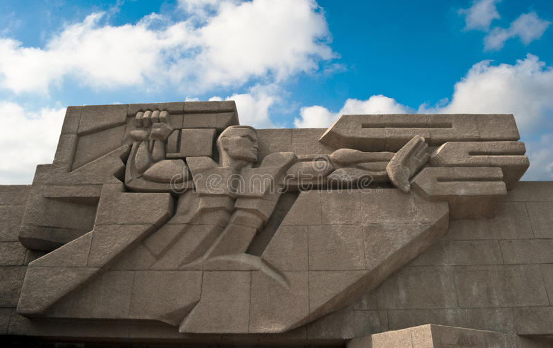Monument to the defensive of city of Sevastopol. Monument to the defenders of city of Sevastopol from fascists in 1941, 1942 years. A monument is set in the stock photos
