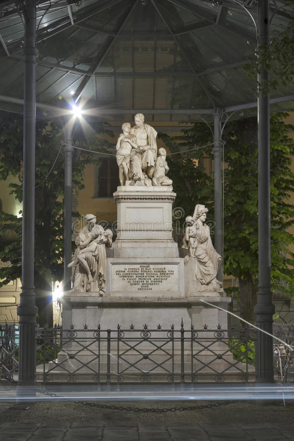 Monument to Demidov by Bartolini 1871 in Florence royalty free stock photography