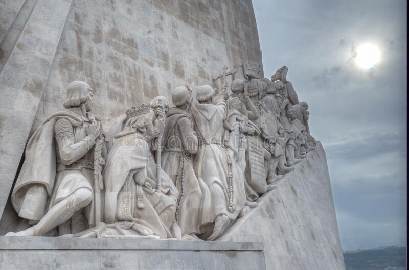 Monument to the Discoveries. 52 metres tall, this monument commemorates the five hundredth royalty free stock photography