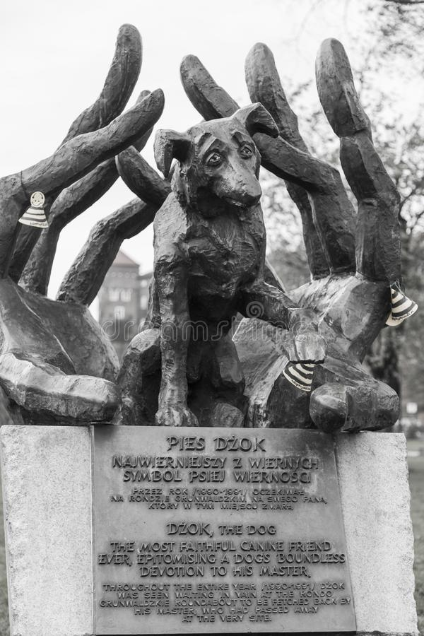 Monument to the dog Dzok stock images