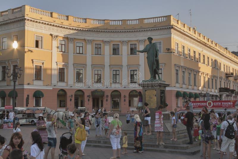 Monument to Duke de Richelieu in Odessa, Ukraine royalty free stock image