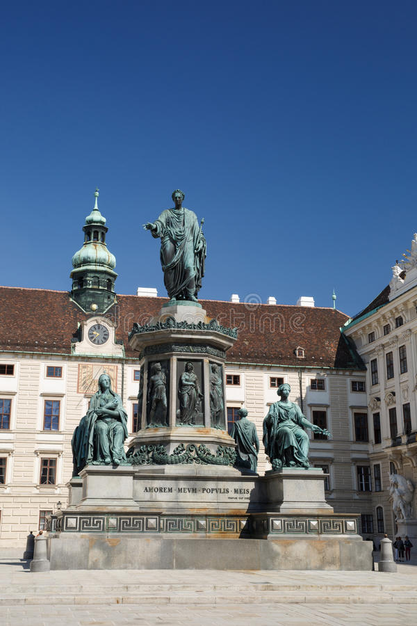 Monument to Emperor Franz I of Austria Kaiser Franz Denkmal in. The Innerer Burghof in the Hofburg imperial palace. Vienna, Austria stock images
