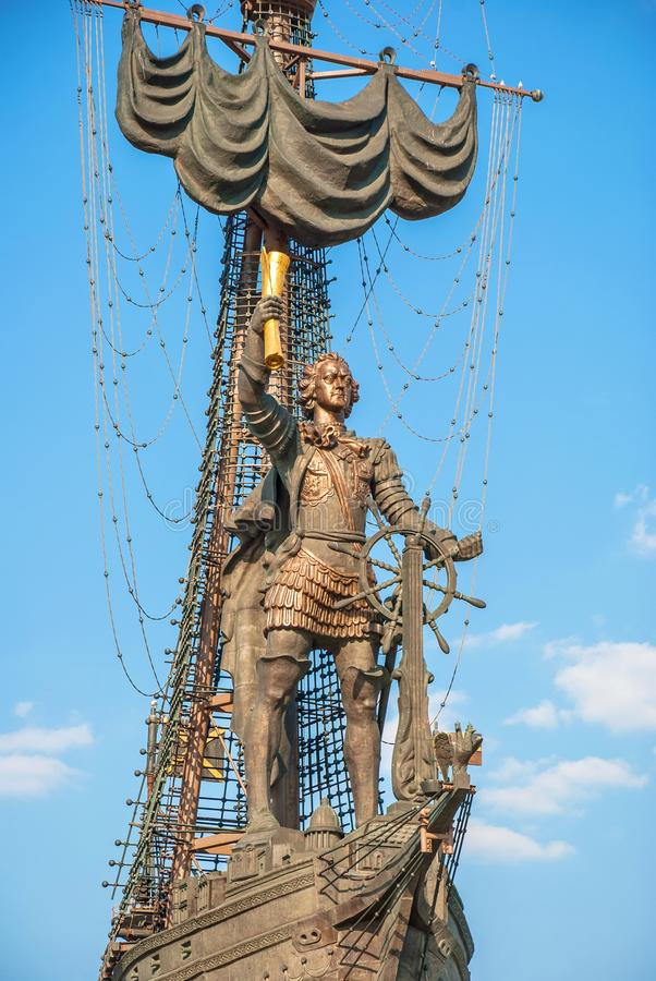 Monument to Emperor Peter the Great royalty free stock image