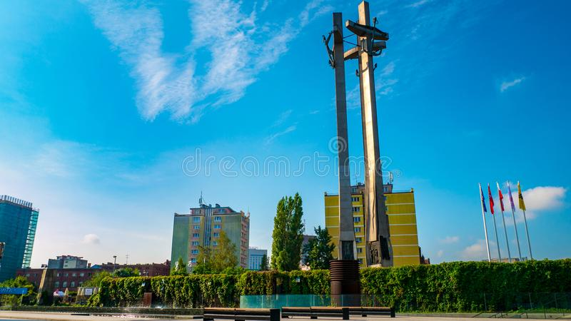 Monument to the Fallen Shipyard Workers royalty free stock photos