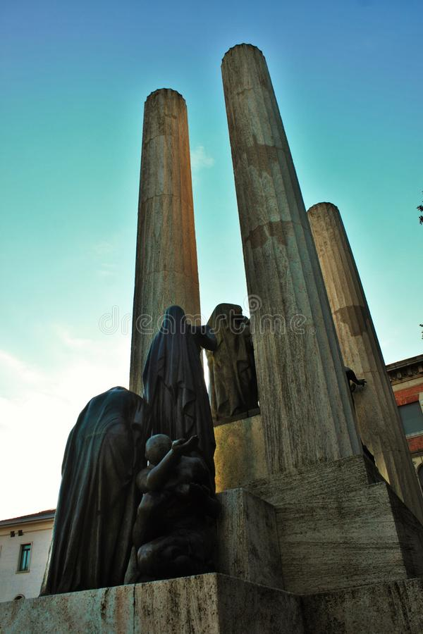 The Monument to the Fallen of Treviso called & x22;Gloria& x22;. stock photos