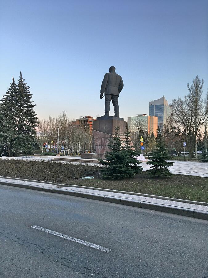 Free Monument To Fedor Sergeyev Artem In The City Of Donetsk. Modern Architecture. City Environment. Royalty Free Stock Images - 176348109