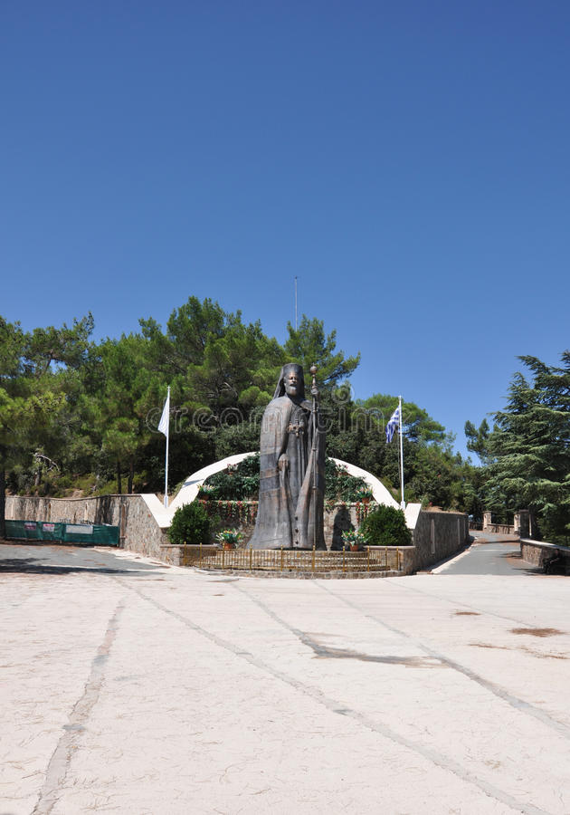 Monument to the first President of Cyprus stock image