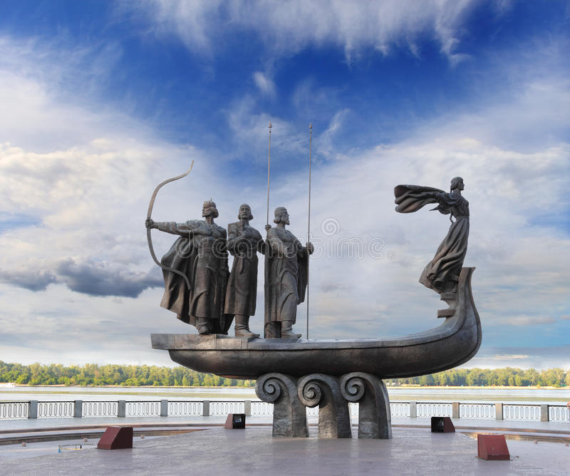 Monument to founders of Kiev