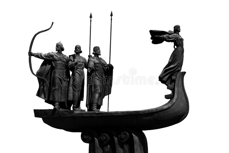 Monument to the founders of Kiev royalty free stock photography