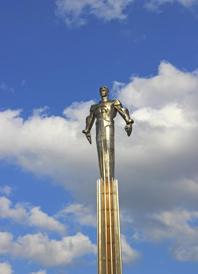 Monument to Gagarin in Moscow stock photo