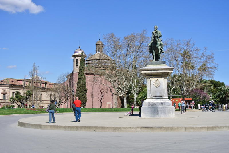 The monument to General Joan Take in Citadel Park.Barcelona is the second largest city in Spain, the capital of the Autonomous reg stock photo