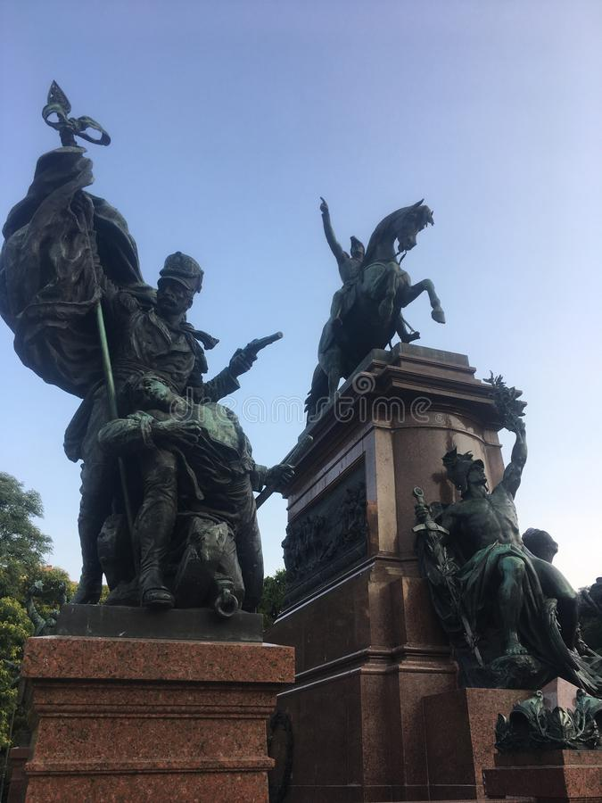Monument to General San Martin and the Armies of Independence. At San Martin Square in Buenos Aires City, Argentina stock photo