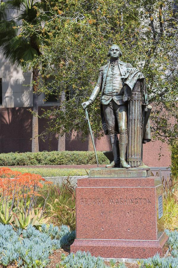 Los Angeles. The monument to George Washington. The monument to George Washington is a Grand Park in the centre of the city stock image