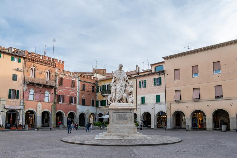 The monument to Grand Duke Leopold II of Lorraine, also known as Canapone, in Grosseto, Italy royalty free stock photography