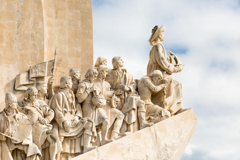 Monument to the great Portuguese travelers in Lisbon. Padrão dos Descobrimentos. Monument to the great Portuguese travelers in Lisbon. The monument was stock photography