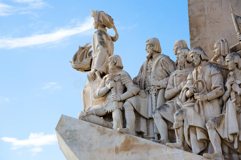Monument to the great Portuguese travelers in Lisbon. Padrão dos Descobrimentos. Monument to the great Portuguese travelers in Lisbon. The monument was royalty free stock images