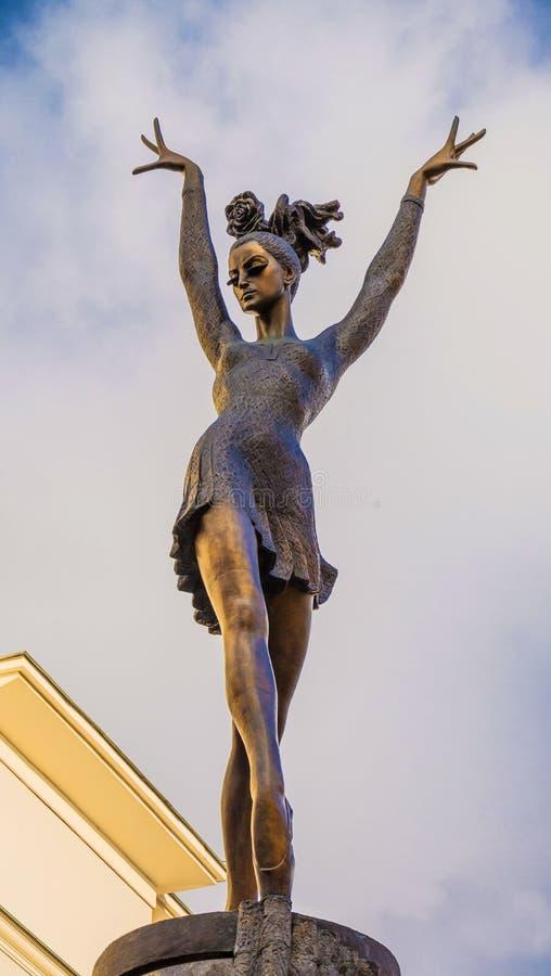 Monument to great Russian ballerina Maya Plisetskaya royalty free stock photos