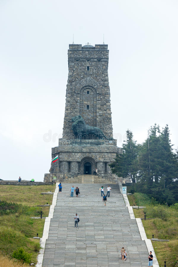 Monument to the Heroes of Shipka in Bulgaria royalty free stock image