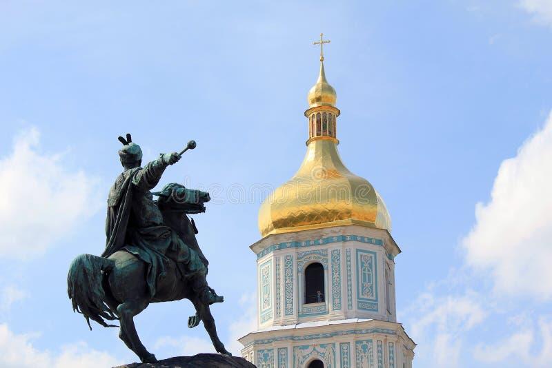 The monument to Hetman Bogdan Khmelnitsky, Kiev royalty free stock image