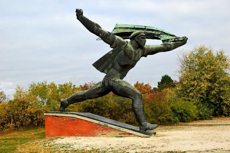 Monument to the Hungarian Socialist Republic Communist Statue at Memento Park Budapest Hungary stock photography