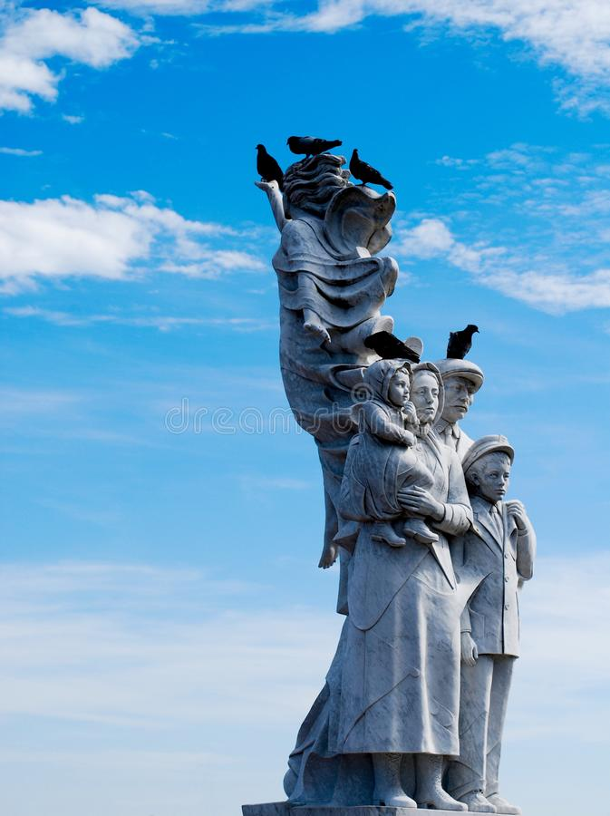 Monument to the Immigrant, New Orleans stock image