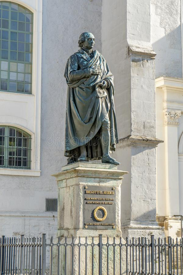 Monument to Johann Gottfried Herder royalty free stock images