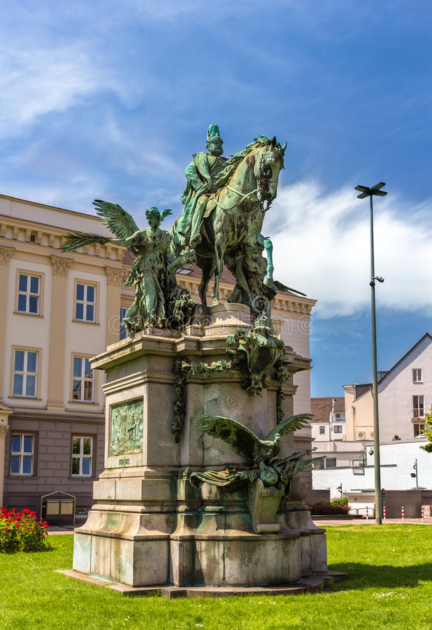Monument to Kaiser-Wilhelm-Denkmal in Dusseldorf. Germany stock images