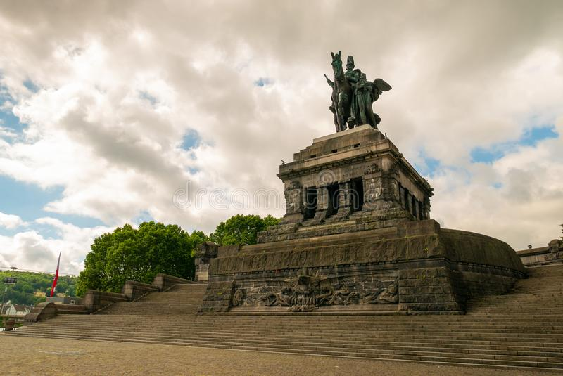 Monument to Kaiser Wilhelm, at Koblenz royalty free stock photo