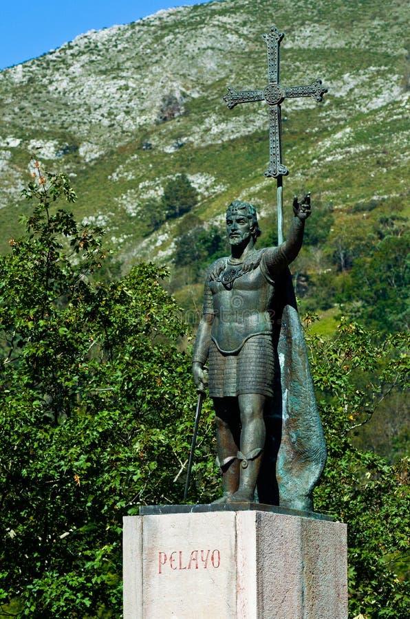 Monument to King Pelayo royalty free stock photos