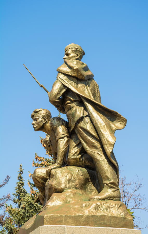 Monument to the Komsomol members in Sevastopol. Monument to Komsomol members in Sevastopol is dedicated to heroic deeds of Komsomol members during Great royalty free stock image