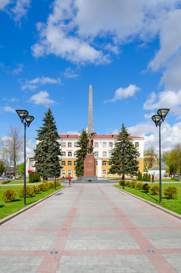 Monument to Komsomol-underground fighters, Gomel, Belarus stock photography