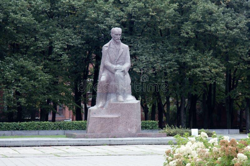 Monument to Latvian poet Janis Rainis. In Riga royalty free stock image